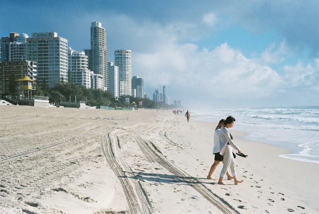 City sand coastline